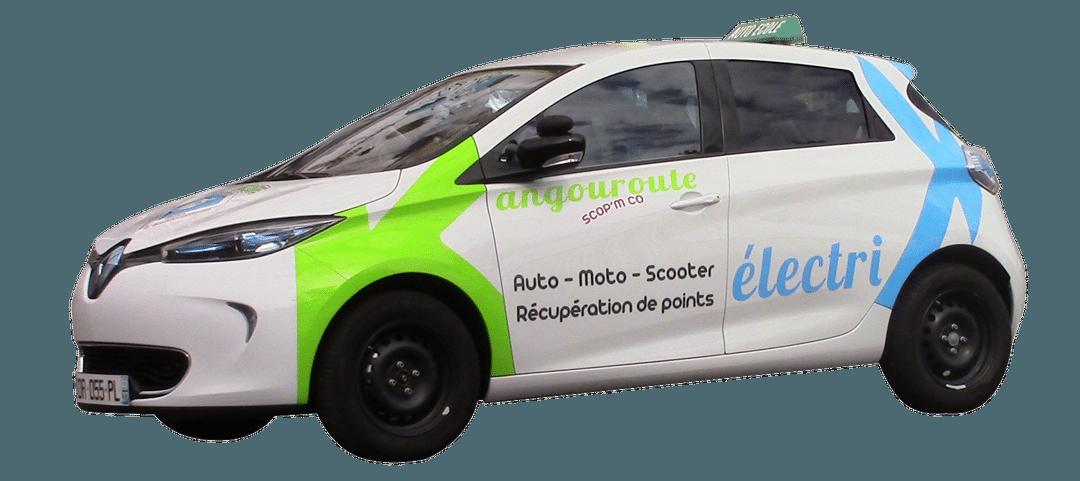 Voiture électrique pour passer le permis automatique à Tours